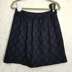 Tabitha Navy Diamond Eyelet Short A-Line Skirt